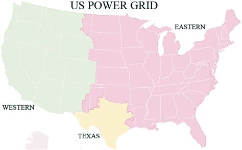 map us electric grid us power grid