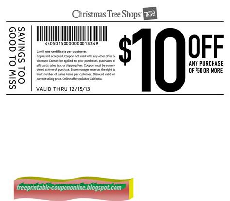 printable coupons 2018 christmas tree shops coupons