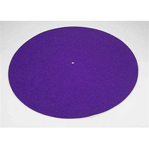 rega wool turntable mat purple