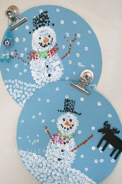 snowman globe q tip paintings 4k winter pinterest