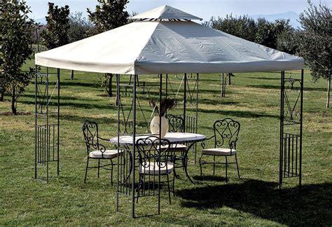gazebo bologna gazebo da giardino bologna 3 x 3 in metallo antracite e