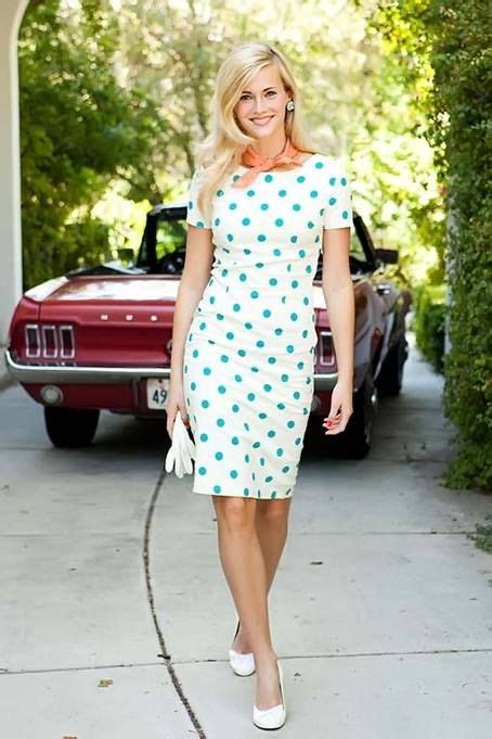 shop for sophisticated sheath dresses with cute polka dot