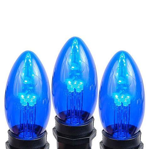 c9 blue led lights 5 pack of blue smooth glass c9 led bulbs novelty lights inc