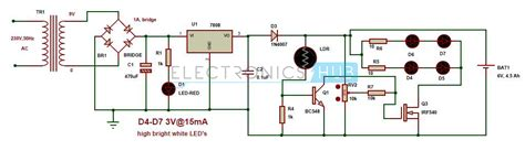 light emitting diode based automatic emergency light system my world my automatic led emergency light circuit