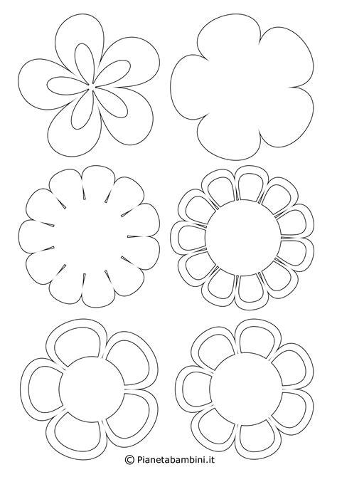 bambini fiori 81 sagome di fiori da colorare e ritagliare per bambini