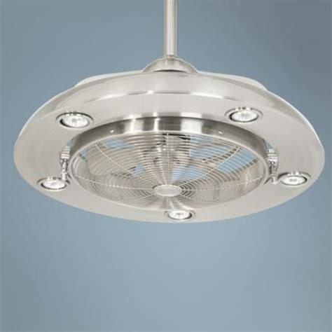 kitchen ceiling fans with bright lights possini segue brushed nickel finish 5 light ceiling fan