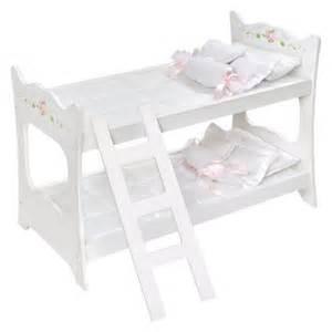 Badger Basket Doll Bunk Bed Badger Basket White 18 Quot Doll Bunk Bed Target