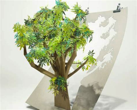 Tree Papercraft - beautiful papercraft tree pledges to save 6 500 acres of