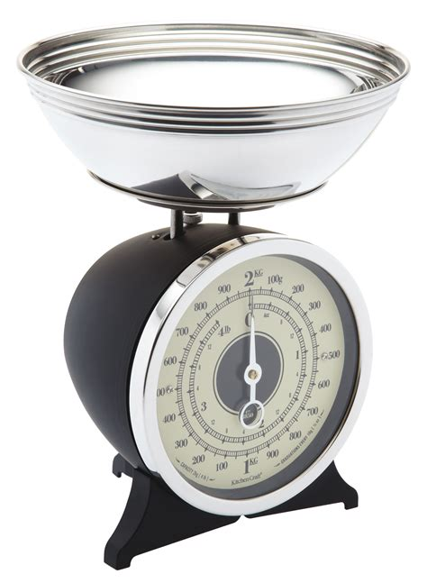 Easy To Read Bathroom Scales Classic Kitchen Scales Black At The Perfect Present Company