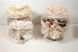 shabbychicjcouture vintage shabby chic glass jars