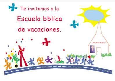 ensenanzas biblicas para la escuela de verano te invitamos ala escuela b 237 blica de vacaciones postales