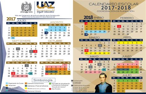 Calend Escolar 2018 Ua Calendario Escolar Uaz Edu Mx