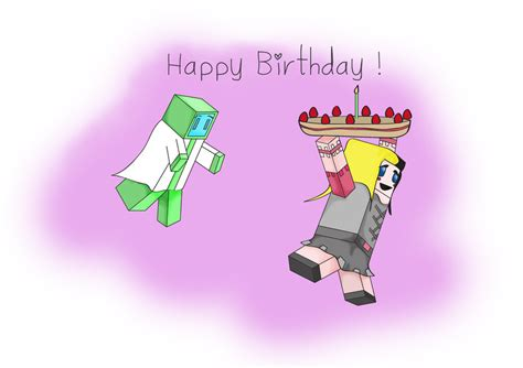 How To Make A Minecraft Birthday Card Minecraft Birthday Card For My Friend By Jessuchan On