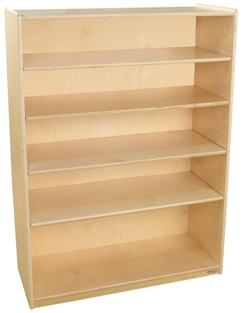 Wooden Bookcases With Adjustable Shelves Wooden 5 Shelf Bookcase With 4 Adjustable Shelves 36 W