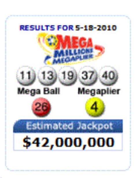 Mega Money Winning Numbers - mega millions winning numbers may 18 2010 lottery drawing