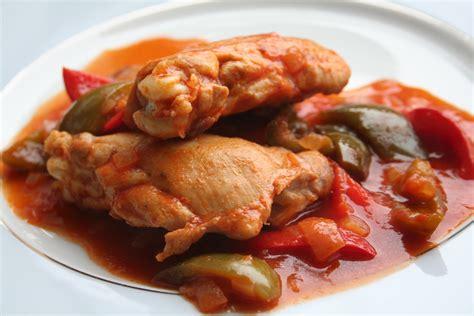 cuisine recette poulet recettes poulet basquaise