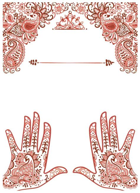 henna design posters create henna inspired elements for a festival poster in