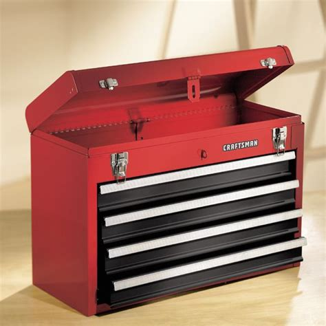 craftsman portable tool box with drawers craftsman 4 drawer metal portable chest red black tool box