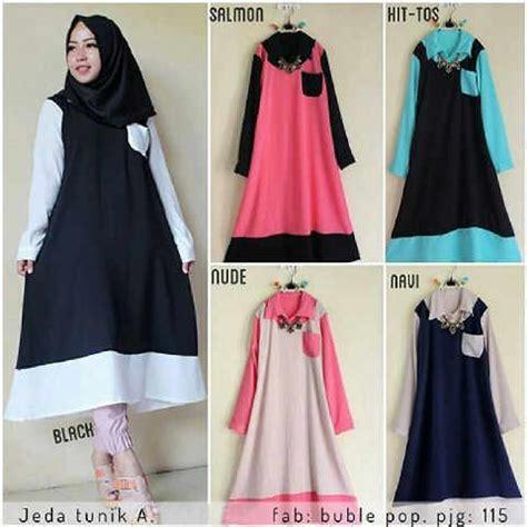 Pakaian Muslim Wanita Baju Muslim Gamis Tunik Warna Pastel 7 baju remaja jeda tunik busana wanita muslim