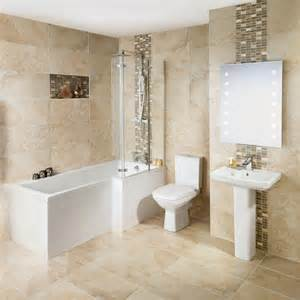 Bath Shower Suites Milano Nectar Square Shower Bath Suite