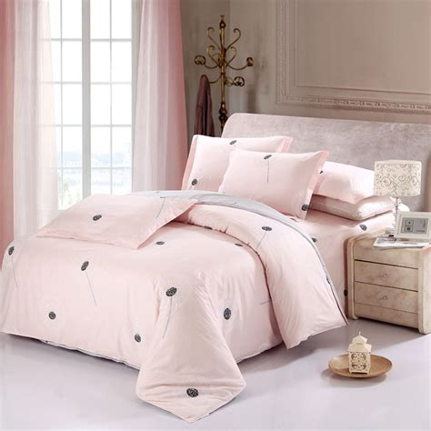 New Arifal Set Overall Sweety new arrival 100 cotton sweet pink dandelion bedding set 4pcs king size printed