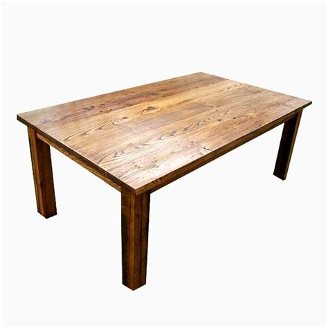 Chestnut Dining Table Buy A Custom Wormy Chestnut Thick Plank Farmhouse Dining Table Made To Order From The Strong