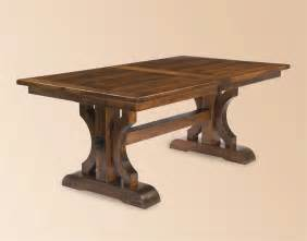 Amish Made Kitchen Tables Amish Made Barstow Trestle Table With Plank Top