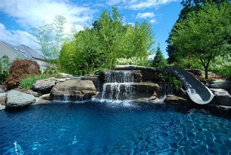 spectacular pools unique pools with waterfalls cool water features for the