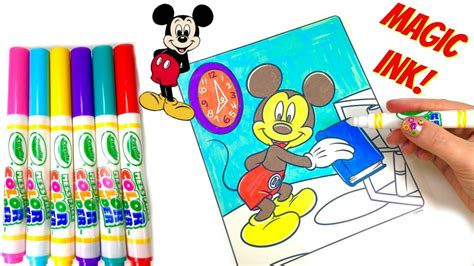 magic ink coloring books mickey mouse clubhouse crayola magic ink marker coloring
