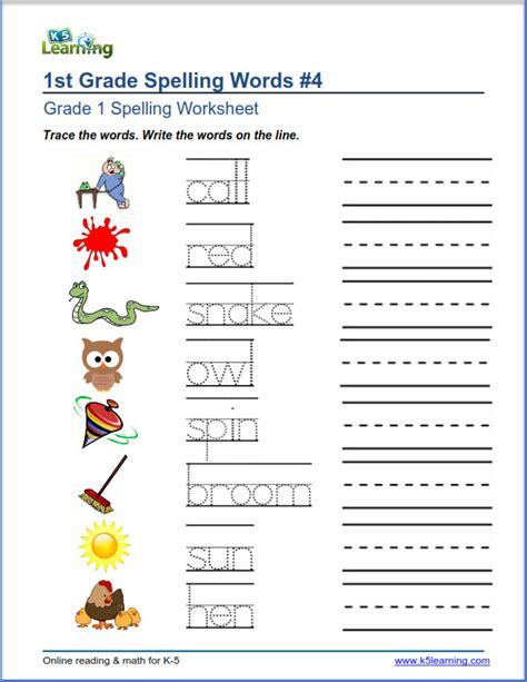Grade One Spelling Worksheets grade spelling worksheets k5 learning