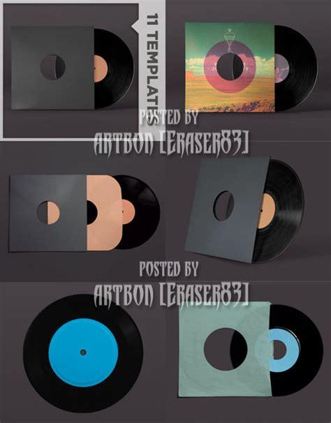 go media s arsenal psd templates vinyl record mockup