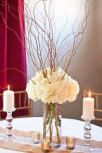 diy wedding centerpieces curly willow and hydrangea centerpiece diy wedding centerpiece with fresh flowers and willow