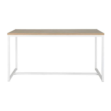wood and metal dining table in white w 150cm igloo