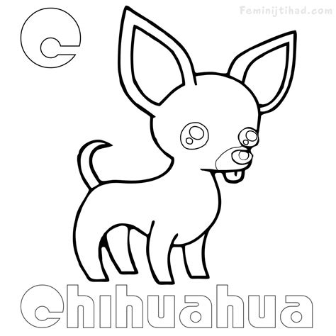 Chihuahua Coloring Pages Printables by Chihuahua Coloring Pages Free Coloring Pages