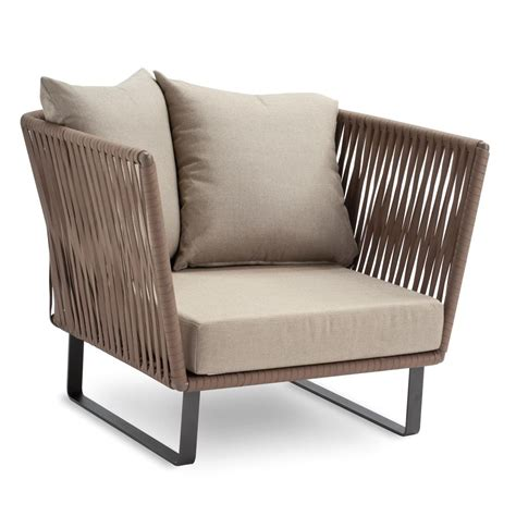 outdoor armchair bitta club armchair garden chair kettal