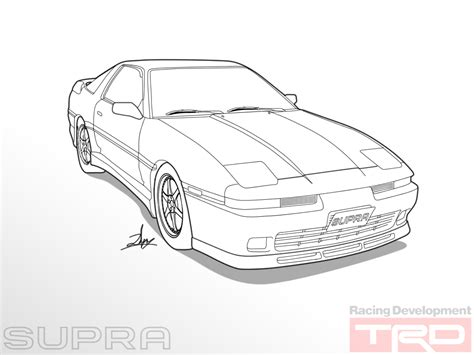 toyota supra drawing how to draw toyota