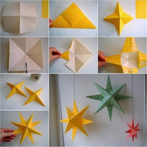 how to make home decoration things estrellas de papel en origami paso a paso