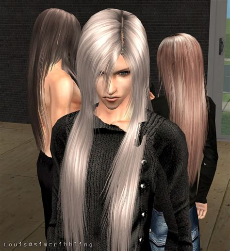 the sims 3 male long hair mod the sims simcribbling straight silky long hairs