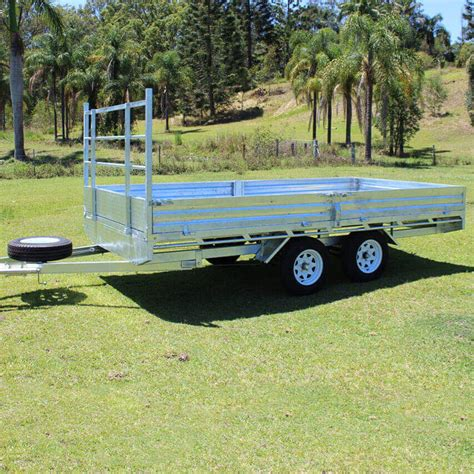 best trailers 14x7 flat top galvanised trailer machinery direct