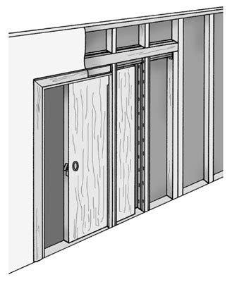how to install a door in a wall door in wall sliding home design