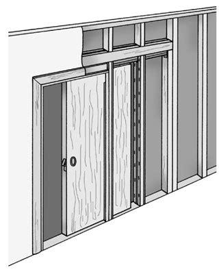how to hang a bathroom door how to install pocket doors dummies