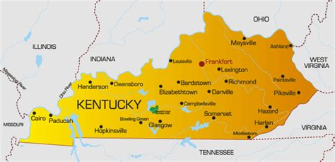 kentucky map facts kentucky state shape quotes
