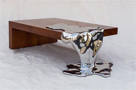 copper esszimmertisch furniture artist rado kirov manipulates stainless steel to