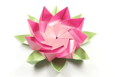 Simple Origami Lotus Flower - modular origami lotus flower