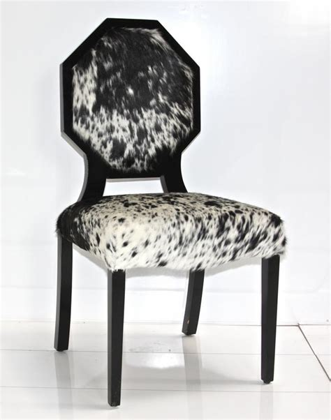 www roomservicestore cowhide octagon dining chair