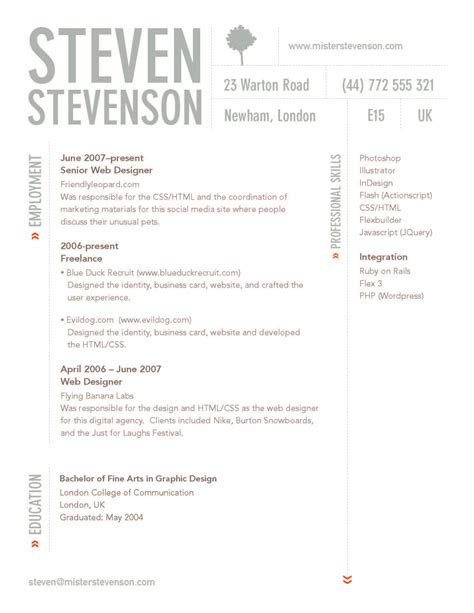 design cv format word best graphic design resumes cv in word best graphic design