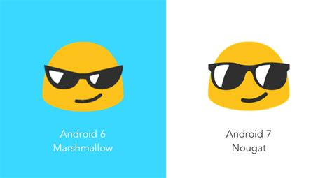 Smile Emoji 7 new emoji in android 7 0 nougat vs android 6 0 marshmallow