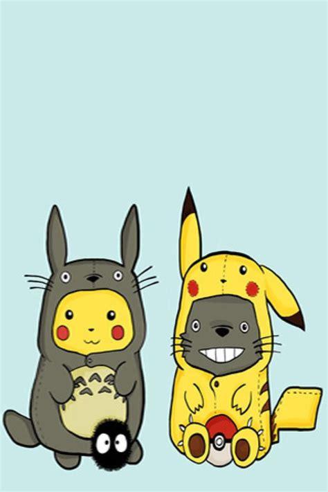 imagenes de totoro kawaii pikachu y totoro wallpaper by kawaiigirl we heart it