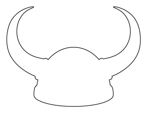 viking template viking helmet pattern use the printable outline for