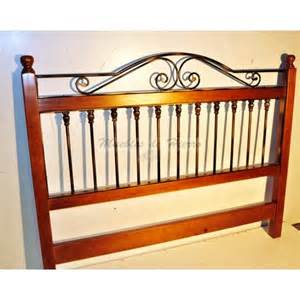 wrought iron and wood headboard ref 100926